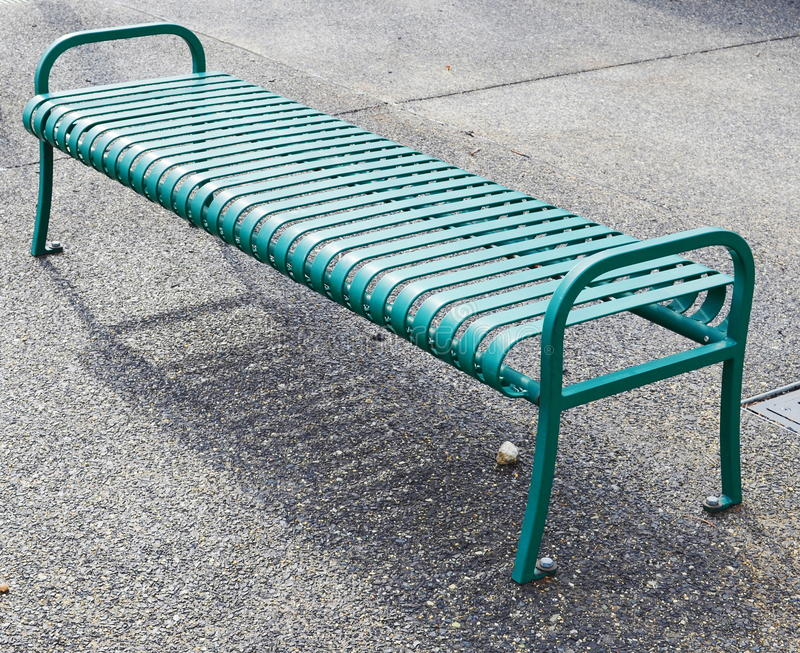 Download Empty green metal bench stock photo. Image of sunlit - 29461588