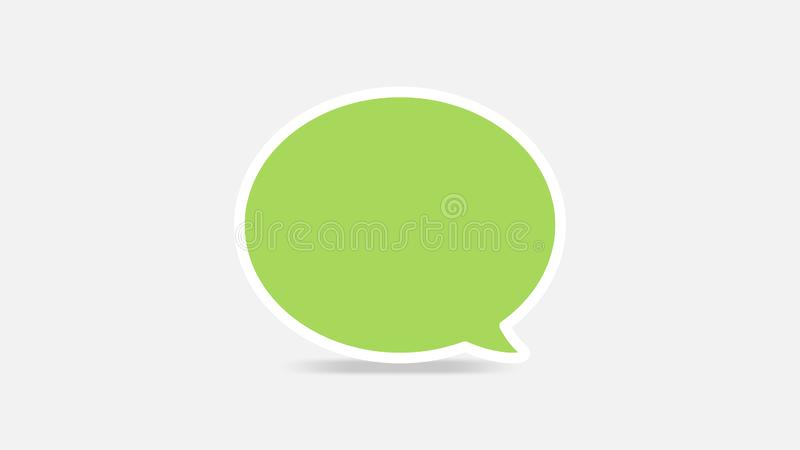 Empty green speech bubbles single for ad, comic speech bubbles doodle or sticker dialog, price tag balloon speech single, bubbles royalty free illustration