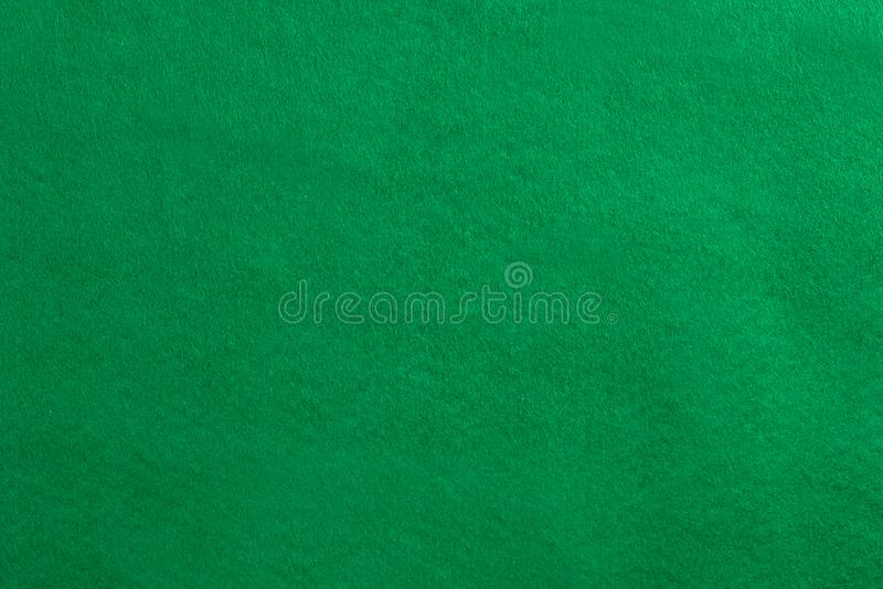 Empty green velvet cover on the pool table. royalty free stock images