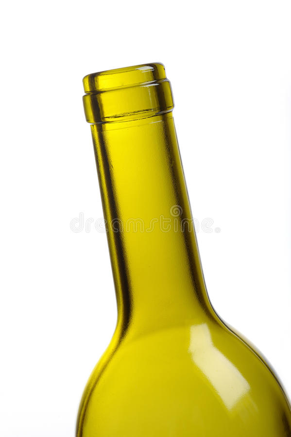 Free Empty Green Wine Bottle Isolated Over White Stock Image - 18594861