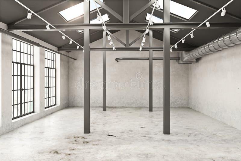 Empty grunge interior royalty free illustration