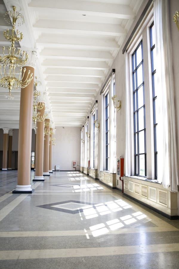 Empty hall stock image