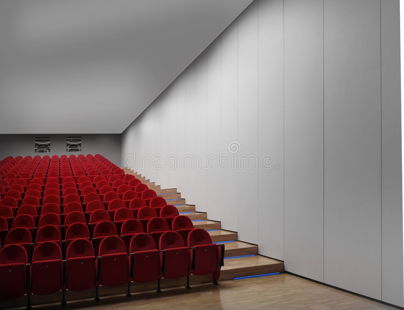 Download Empty hall of cinema stock image. Image of presentation - 7254943