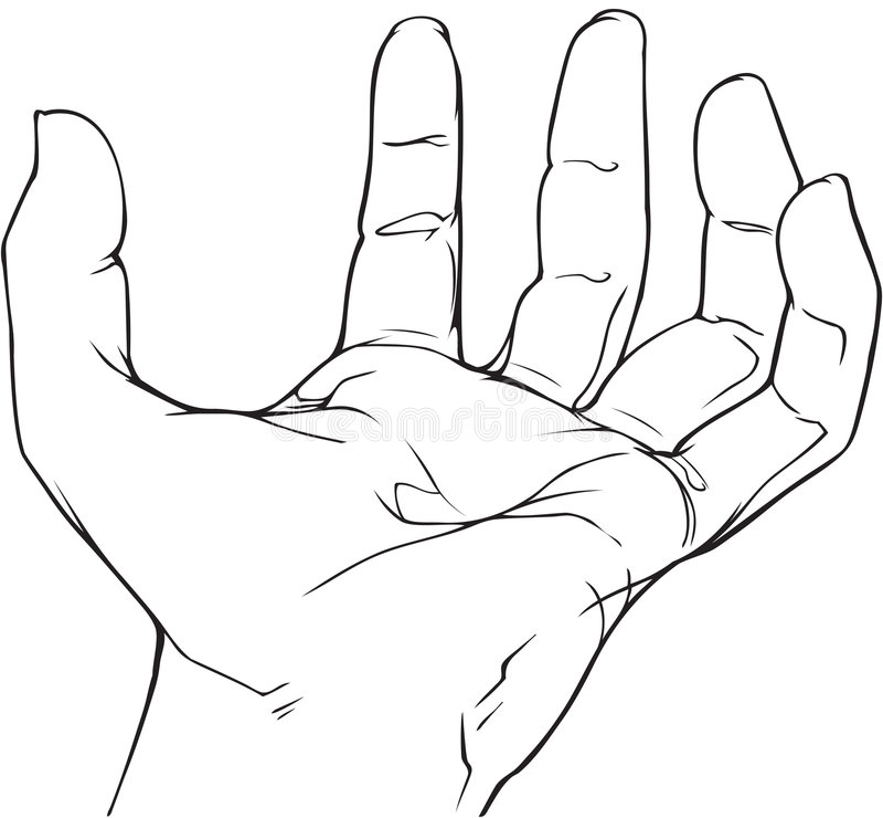 Download Empty hand stock vector. Illustration of energy, depressed - 3823331