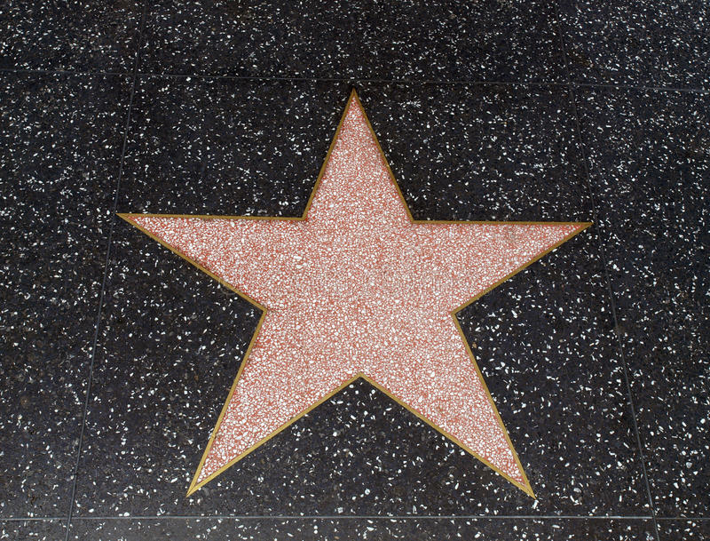 Empty Hollywood Star editorial stock photo. Image of ...