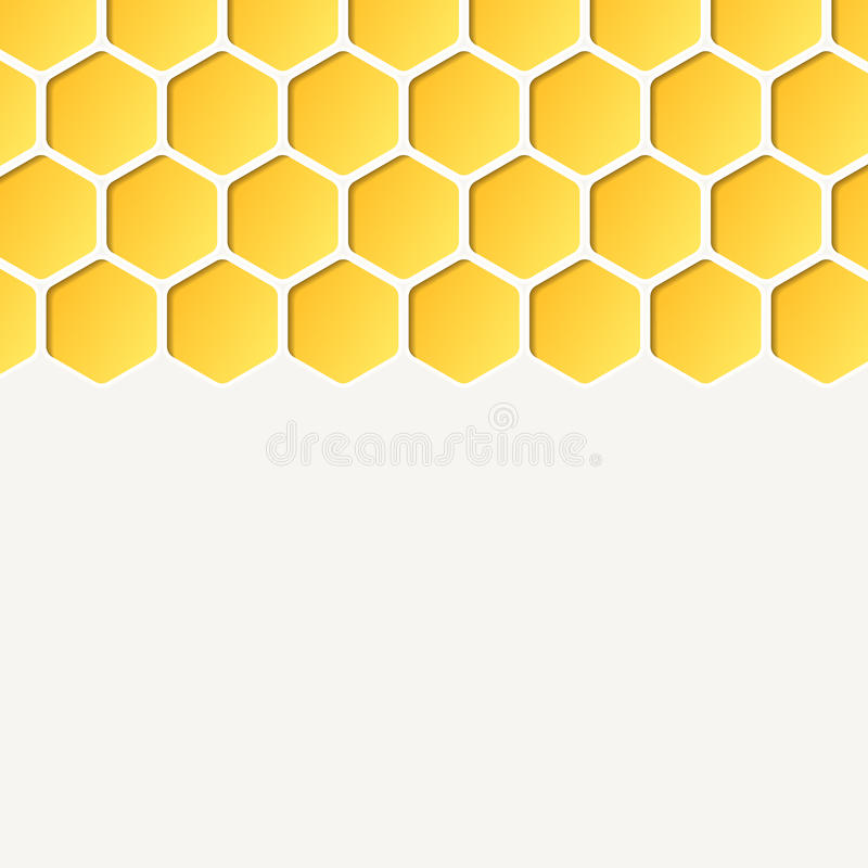 Empty honeycombs background. Vector, for advertising stock illustration