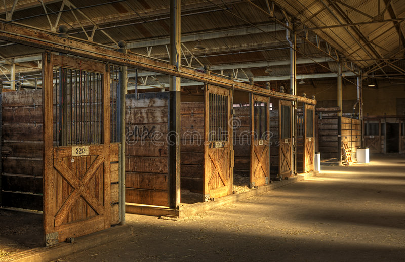 Empty Horse Barn stock photos