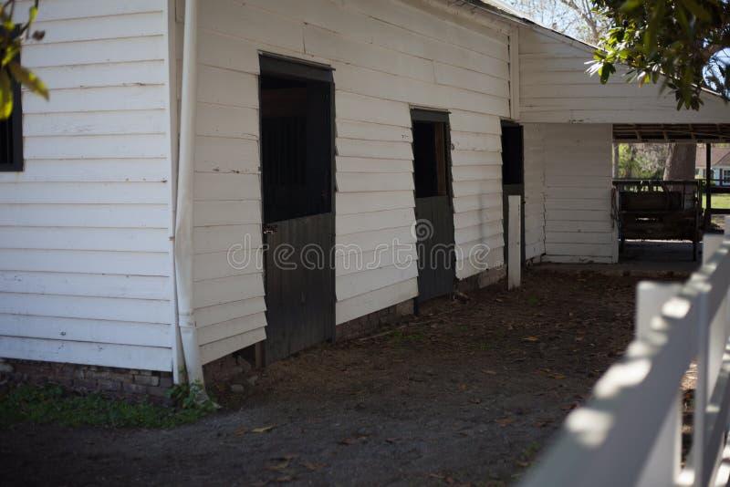 Empty horse barn in Charleston royalty free stock photos