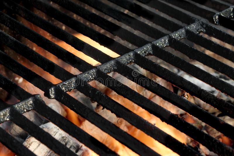 Empty Hot Barbeque Grill stock photo