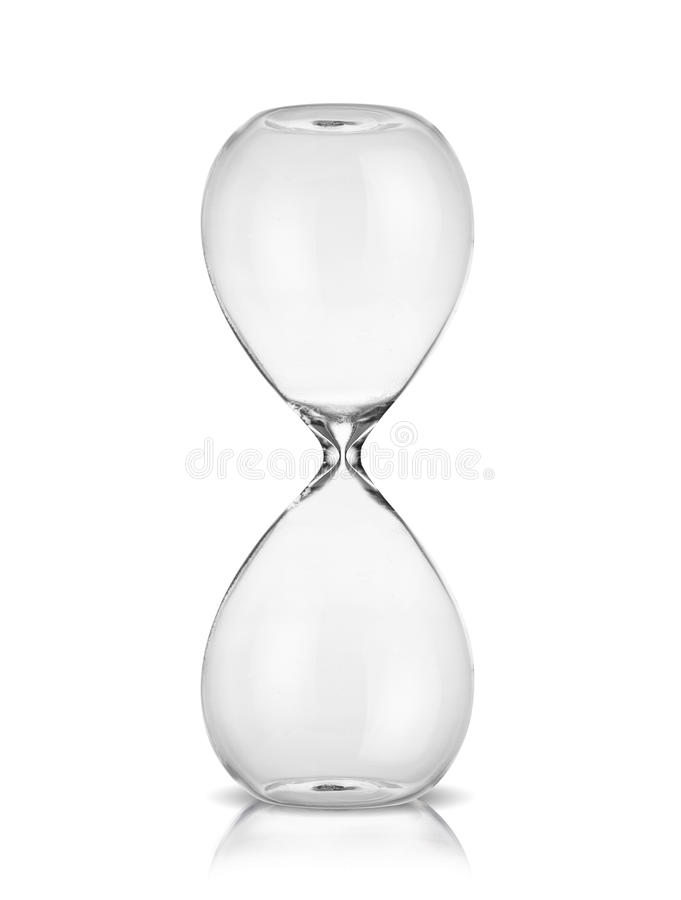 Empty hourglass royalty free stock photo