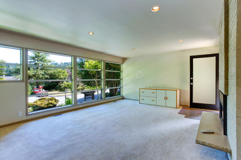 Download Empty House Interior. Glass Wall Living Room Stock Photo   Image:  43516376 Part 74