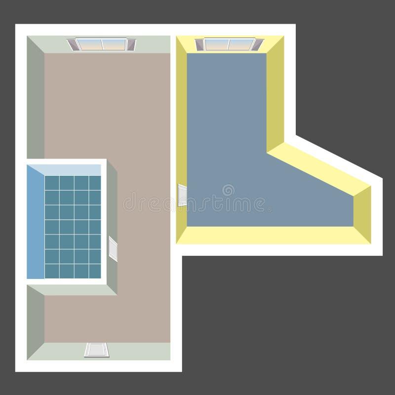 Empty House Floor Plan Stock Illustration. Illustration Of