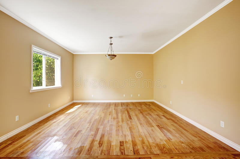 Empty house. Room with hardwood floor royalty free stock photography