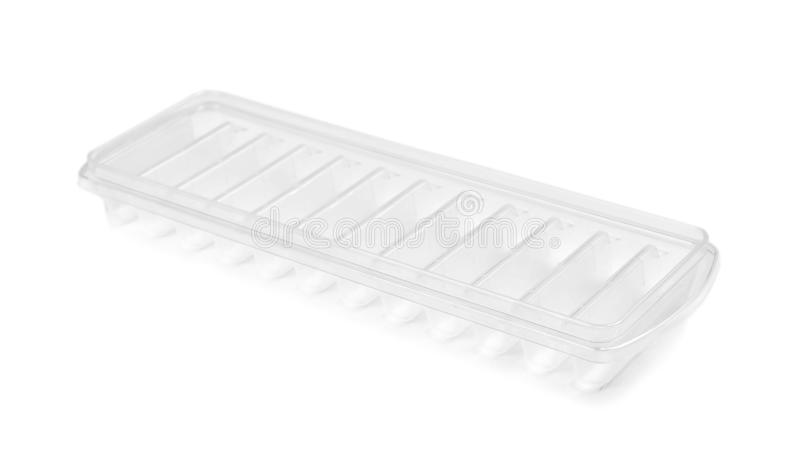 Empty ice cube tray. On white background stock images