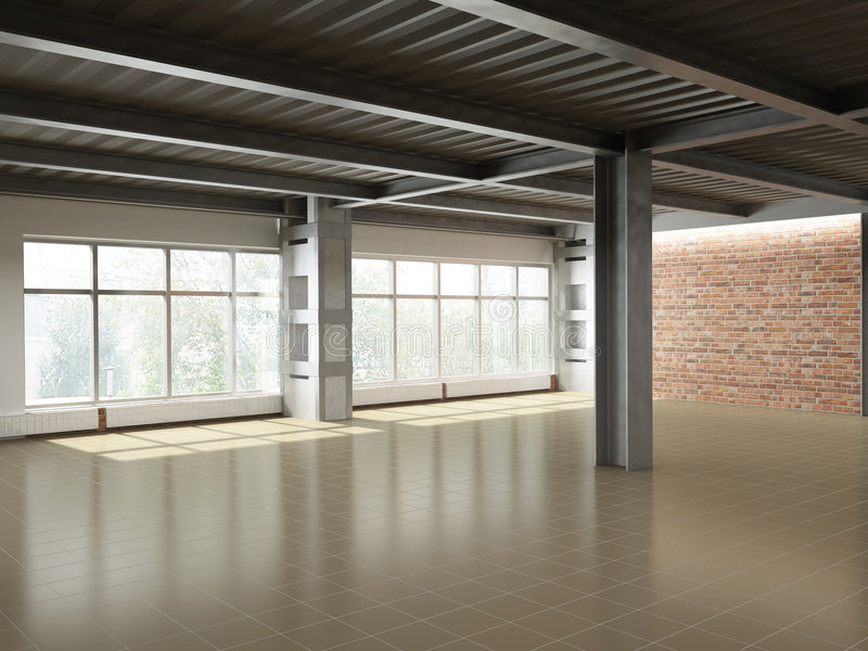 Download Empty industrial interior stock illustration. Image of wall - 9107038