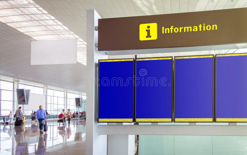 Empty information panel flight times in the royalty free stock images