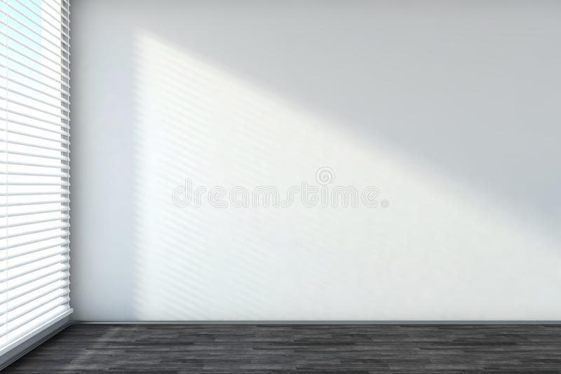 Empty interior with blinds. And window royalty free illustration