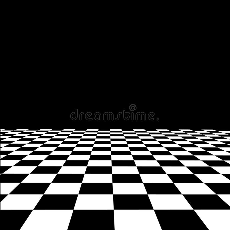 Empty interior with checkered marble floor vector. Is a general illustration royalty free illustration
