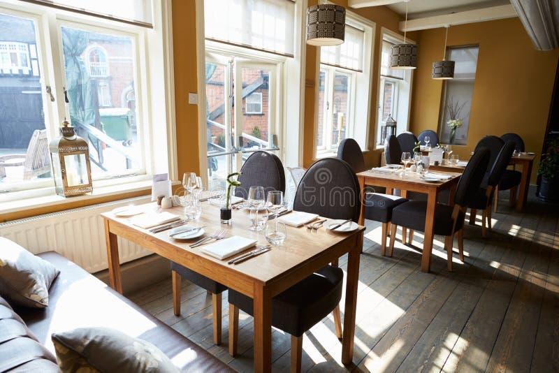 Empty Interior Of Contemporary Restaurant stock photos