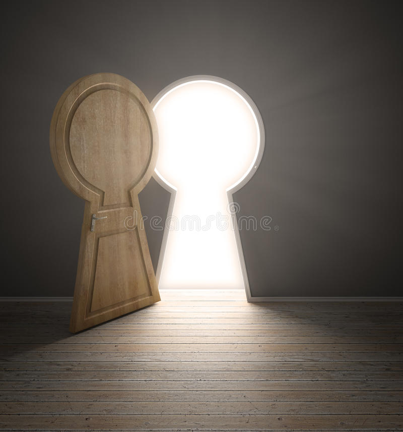 Download Empty Interior With A Door Shaped Stock Illustration - Image: 24953590
