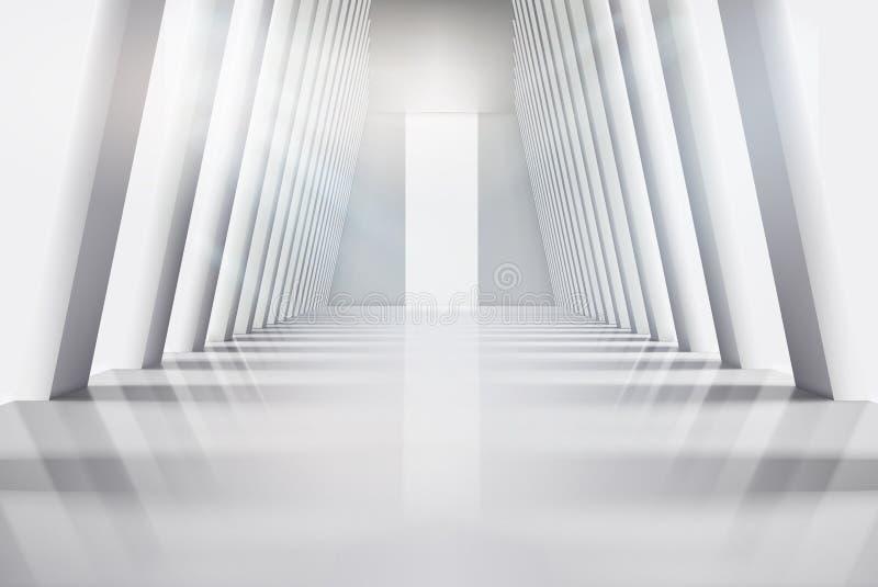 Empty interior with large windows. Vector illustration. royalty free illustration