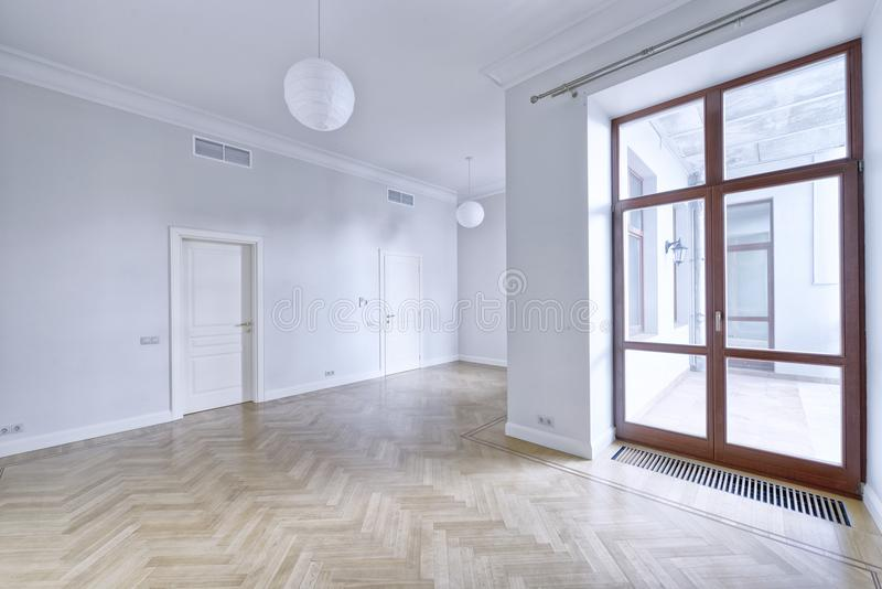 Empty interior in modern house. royalty free stock images