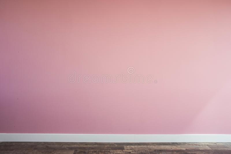 Empty interior Vintage wall with wooden floor and plinth. Modern design stock photography