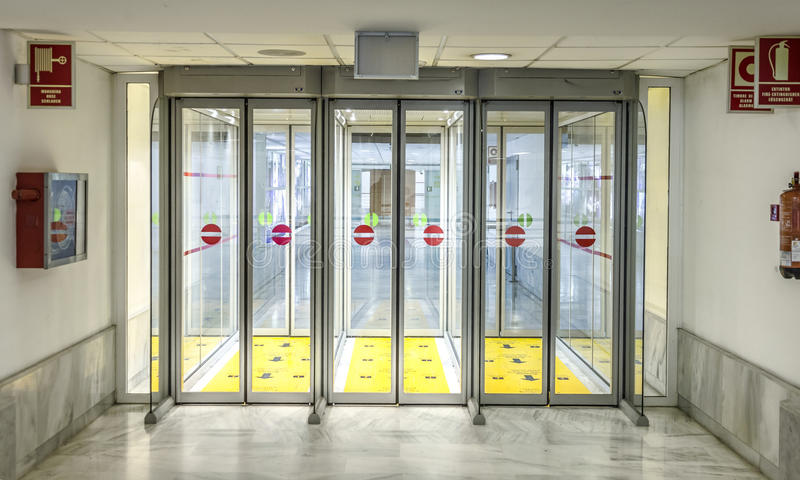 Download Empty Isle And Door In The Arrival Area At The Airport In Arreci Editorial Stock & Empty Isle And Door In The Arrival Area At The Airport In Arreci ...