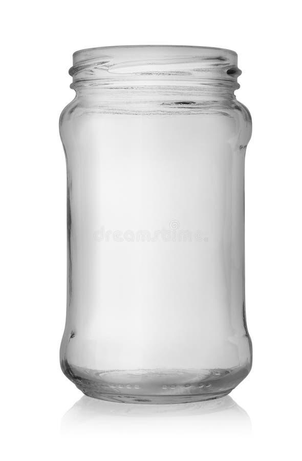 Empty jar stock image
