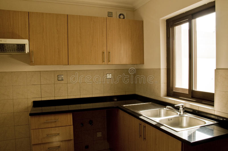 Empty kitchen stock photo