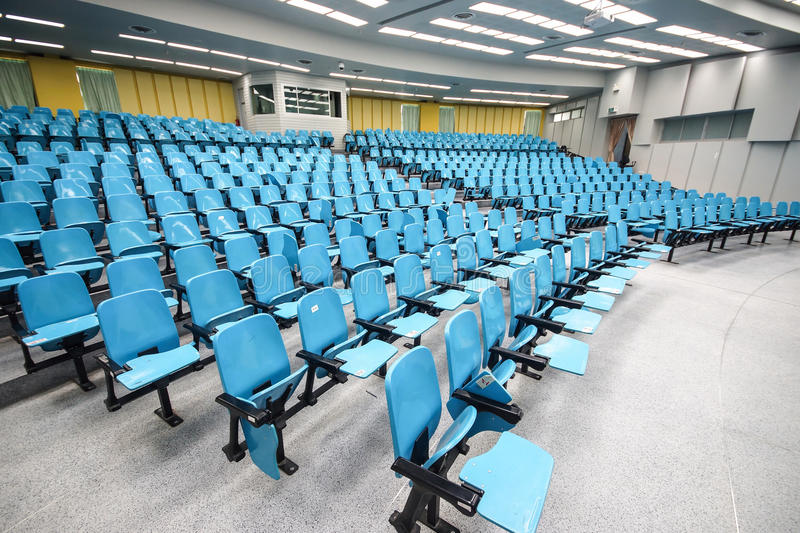 An empty large lecture room stock photos