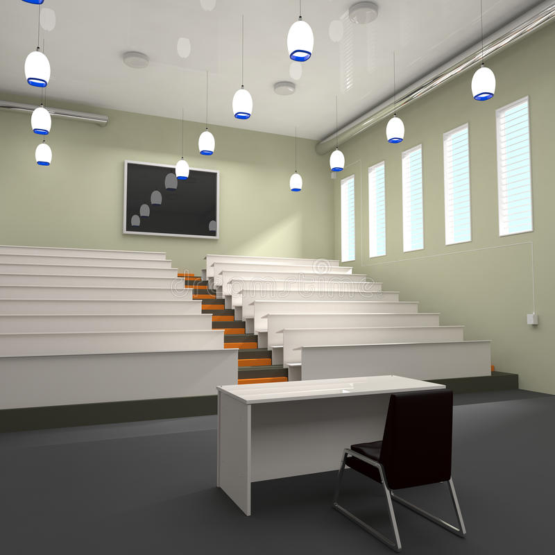 Download Empty Lecture Hall In University Stock Illustration - Image: 31919960