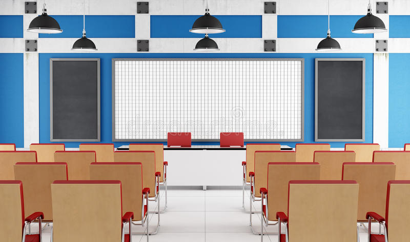 Download Empty lecture hall stock illustration. Image of seminar - 32230285