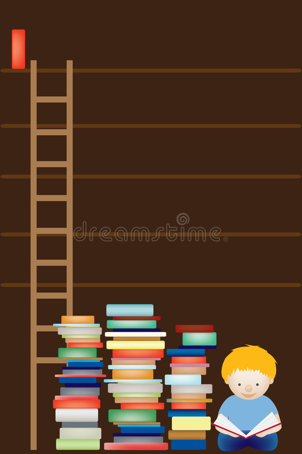 Download Empty library shelves stock vector. Illustration of background - 8858454