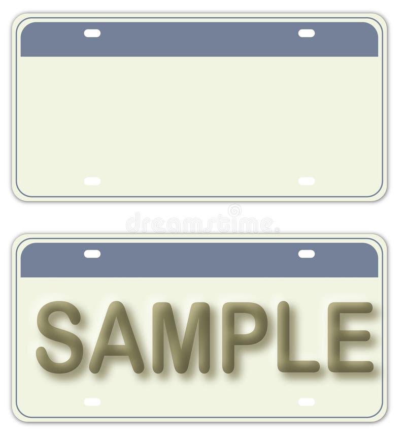 Empty License stock illustration