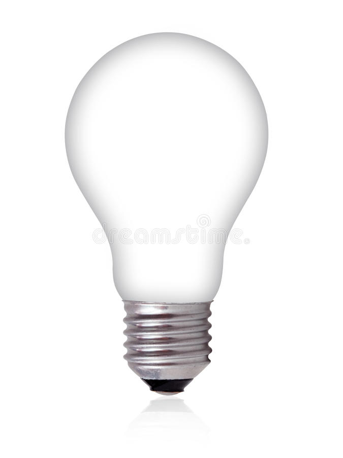 Free Empty Light Bulb On White Background Royalty Free Stock Photo - 17066145