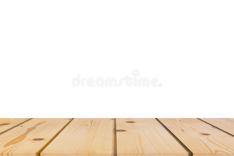 Download Empty Light Pine Tree Wood Table Top Isolate On White Background  Stock Image   Image