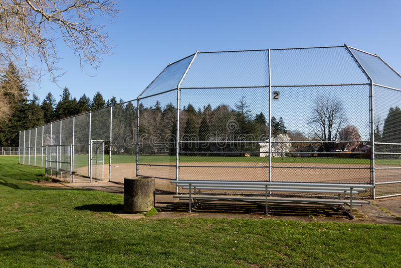 Empty Little League Diamond. Little league baseball field portland oregon stock images