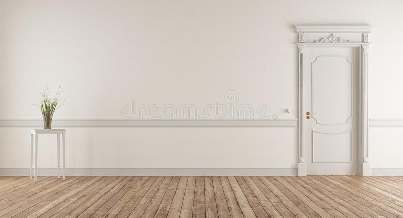 Empty living room in classic style royalty free illustration