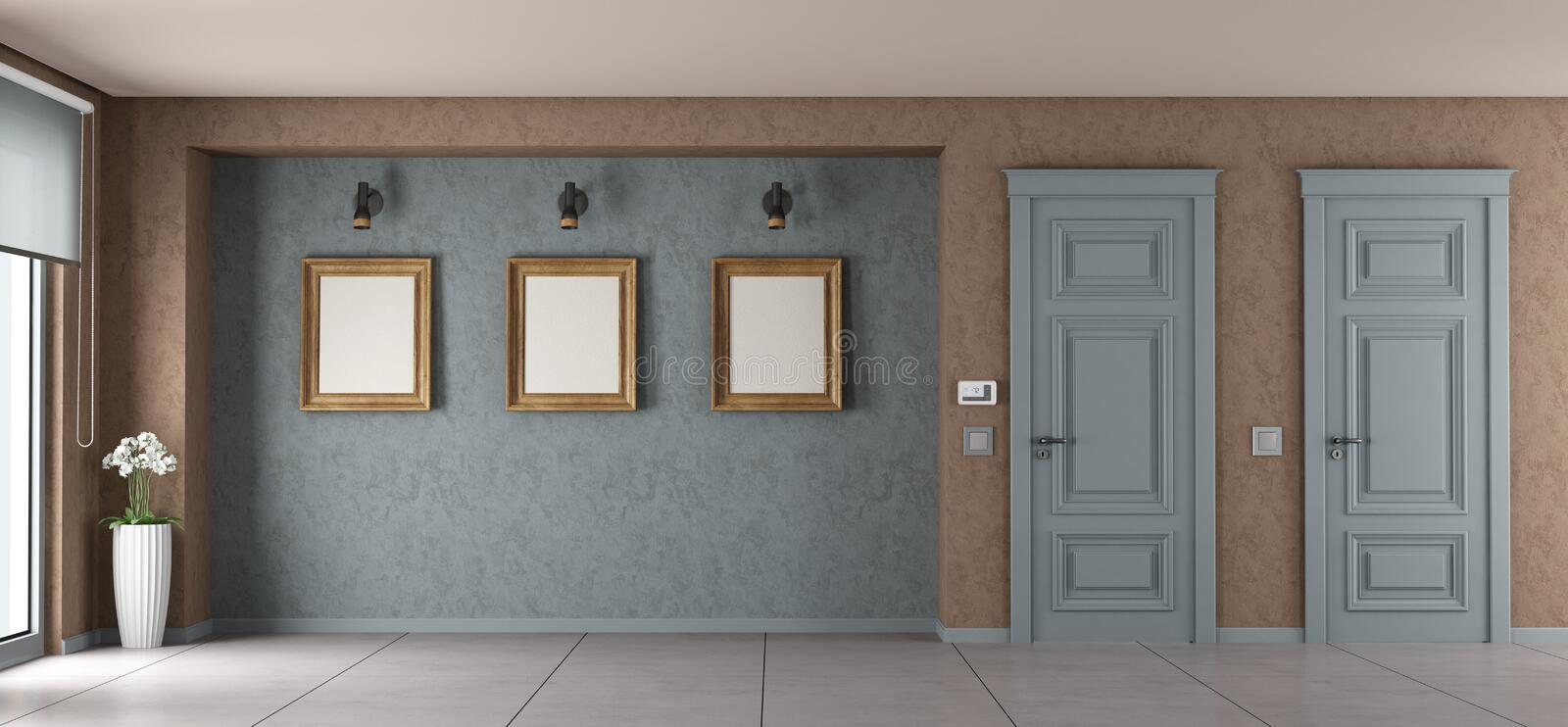 Empty living room royalty free illustration