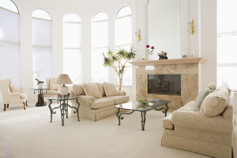 Download Empty Living Room In Luxurious Home Stock Photo - Image: 5687148