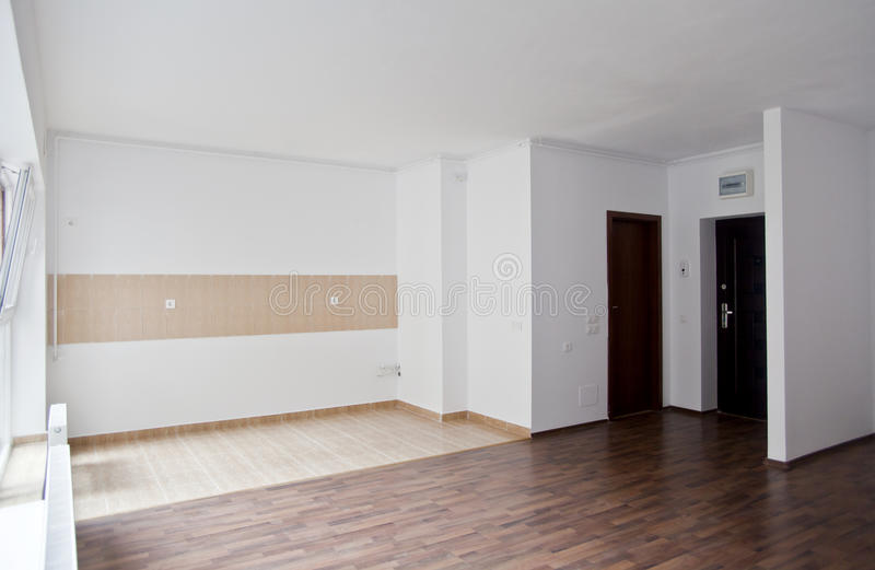 Empty Studio Apartments. Download Empty Living In Studio type Apartment Stock Image  of flat construction