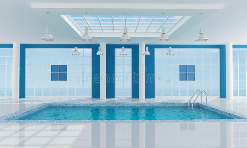 Download Empty Luxury Resort Swimming Pool Stock Illustration - Illustration: 10070846