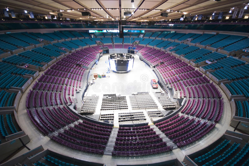 Empty Madison Square Garden royalty free stock photography