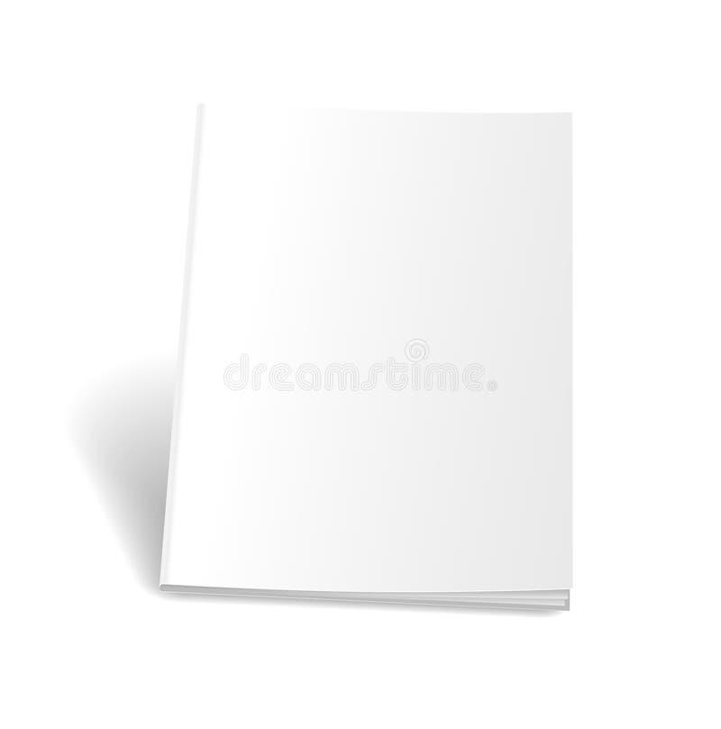 Empty magazine on white background. Perfect blank royalty free illustration