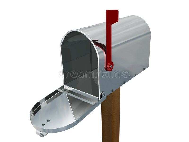 Empty mailbox stock illustration