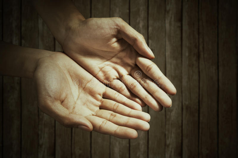 Empty male hands royalty free stock images