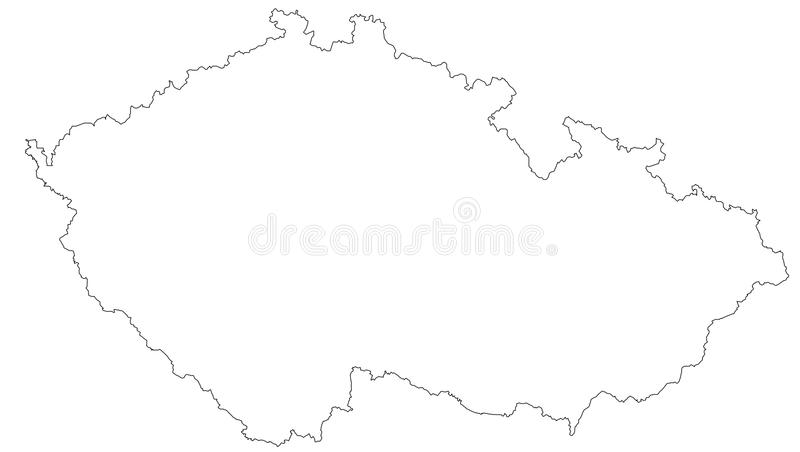 Empty map of the Czech Republic vector illustration