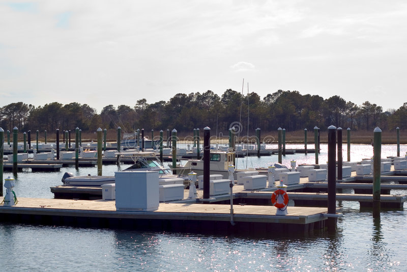 Empty marina stock images