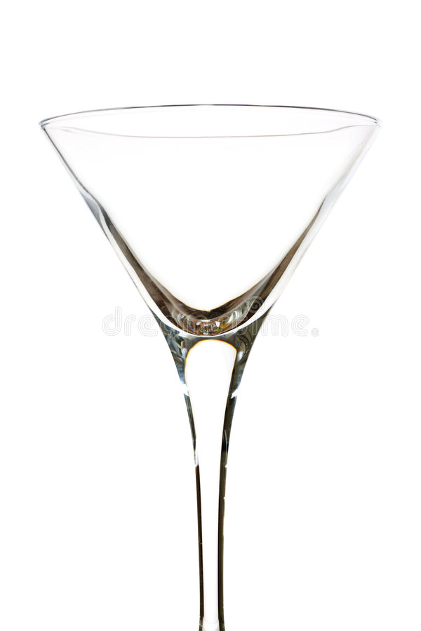 Empty martini royalty free stock photography